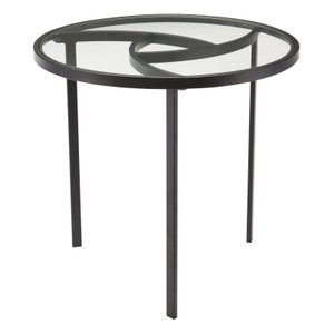 Asterisk End Table Black