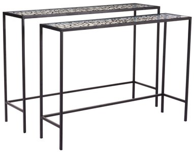 Web Console Tables Black (Set of 2)