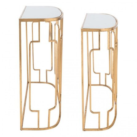 Roma 2 Piece Set Console Tables Gold