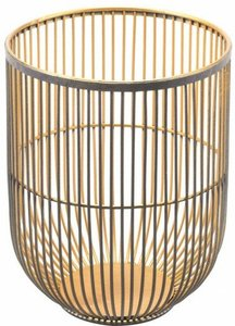 Jaula Candle Holder Small Matte Black & Gold