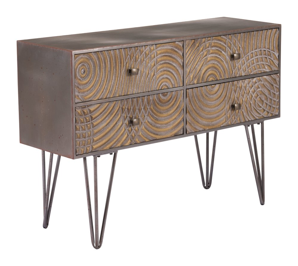 Circulos Console Table Brown