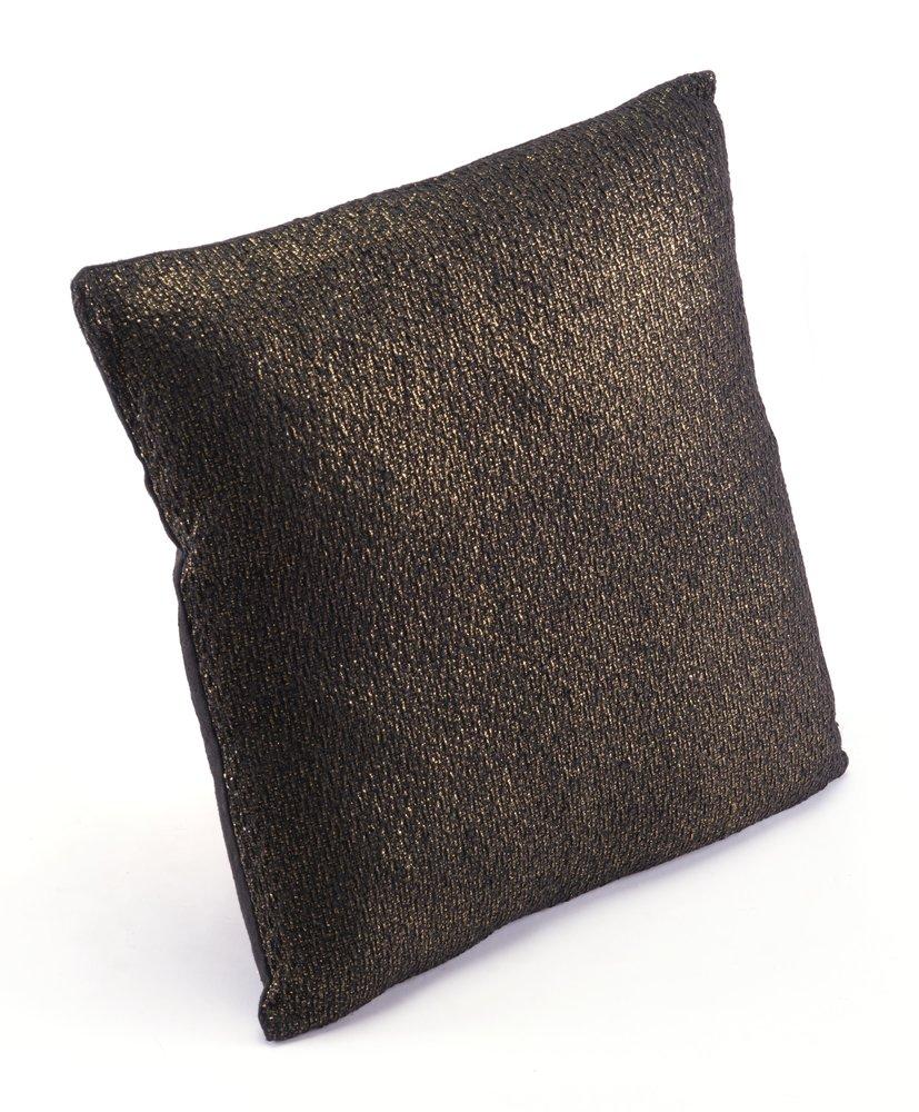Metallic Pillow Black & Copper (Set of 4 Units)
