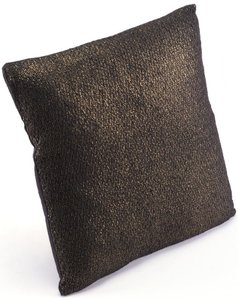 Metallic Pillow Black & Copper