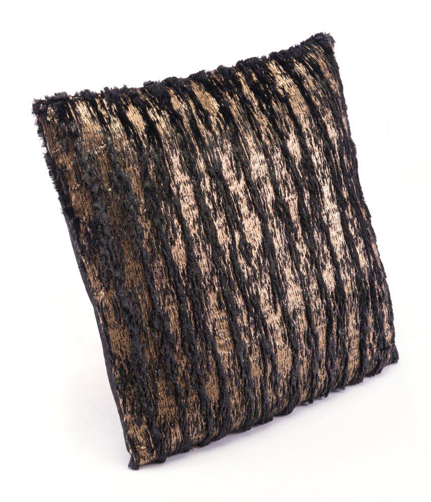 Metallic Waves Pillow Black & Gold (Set of 4 Units)