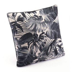 Jungle Pillow Black And Beige (Set of 2)