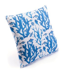 Blue Reef Pillow Blue & White (Set of 4 Units)