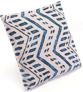 Ikat Pillow II Blue And Natural