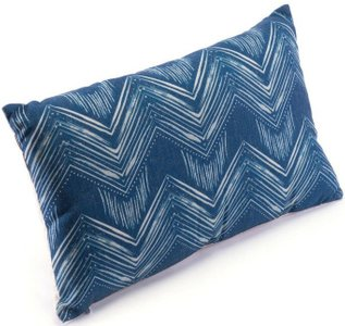 Ikat Pillow III Blue And Natural
