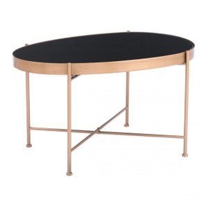 Gotta End Table Medium Black/Gold