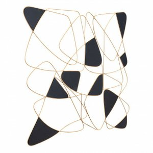 Giu Wall Decor Black & Gold