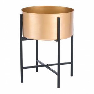 Metal Medium Planter Gold
