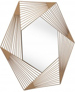 Aspect Hexagonal Mirror Gold