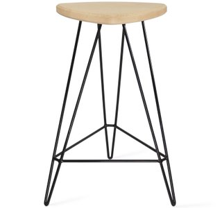 "Madison Counter Stool 26"" H Maple And Black"