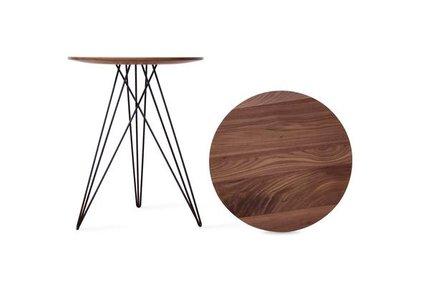 Hudson Side Table Walnut And Black
