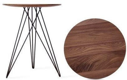 Hudson Side Table Walnut And Black