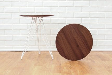 Hudson Side Table Walnut And White
