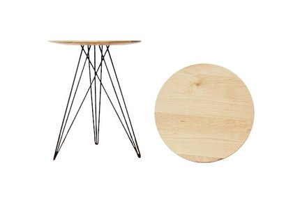 Hudson Side Table Maple And Black