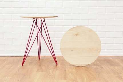 Hudson Side Table Maple And Red