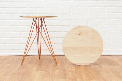 Hudson Side Table Maple And Orange