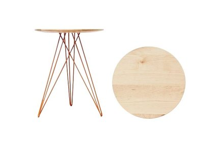 Hudson Side Table Maple And Orange