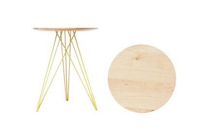 Hudson Side Table Maple And Yellow