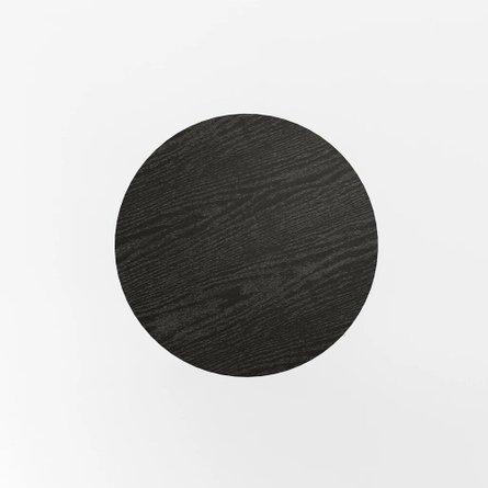 James End Table Black Oak