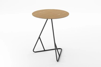 James End Table Natural Oak And Black