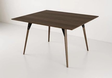 Clarke Dining Table Large Rectangle Walnut And Black