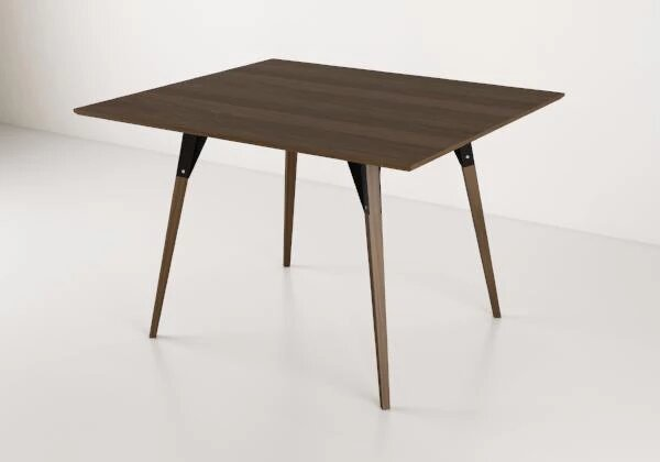 Clarke Dining Table Small Rectangle Walnut And Black