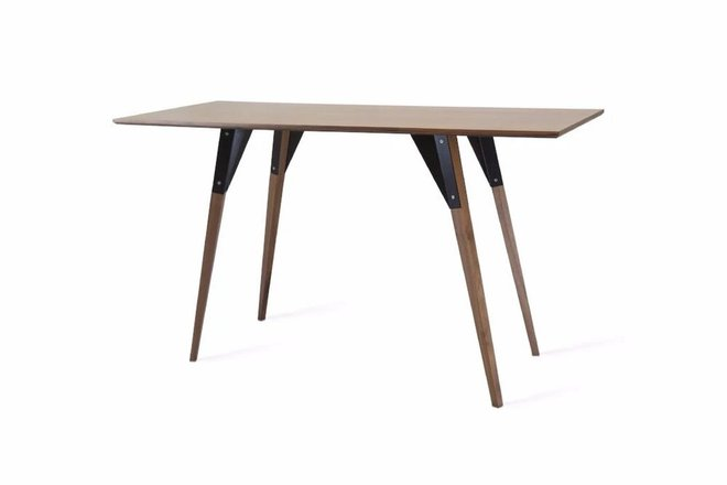Clarke Desk Walnut And Black
