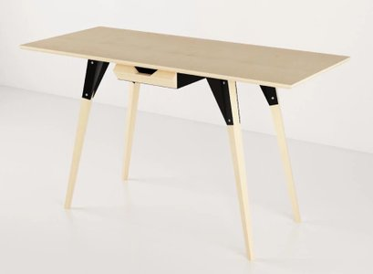Clarke Desk With Drawer Maple And Black