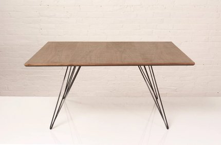 Williams Coffee Table Small Square Walnut And Black