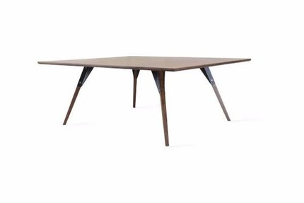 Clarke Coffee Table Large Rectangle Black And Walnut