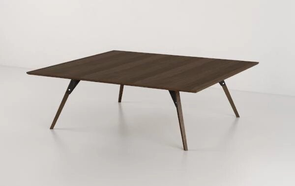 Clarke Coffee Table Small Rectangle Black And Walnut