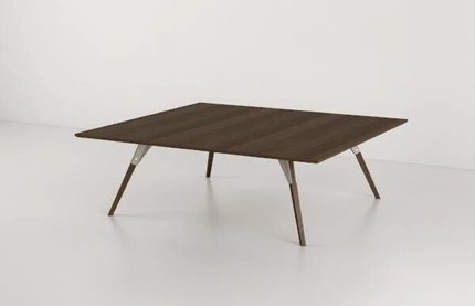 Clarke Coffee Table Small Rectangle White And Walnut