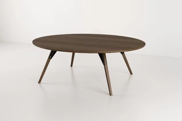 Clarke Coffee Table Large Oval Black And Walnut