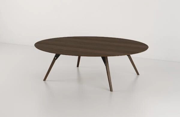 Clarke Coffee Table Small Oval Black And Walnut