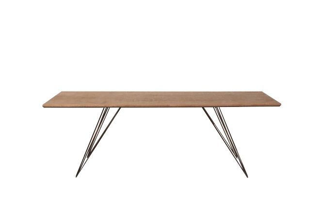 Williams Coffee Table Thin Rectangle Walnut And Black