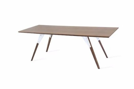 Clarke Coffee Table Thin Rectangle White And Walnut
