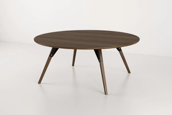 Clarke Coffee Table Large Circle Black And Walnut