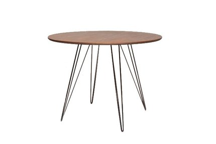 Williams Coffee Table Small Circle Walnut And Black