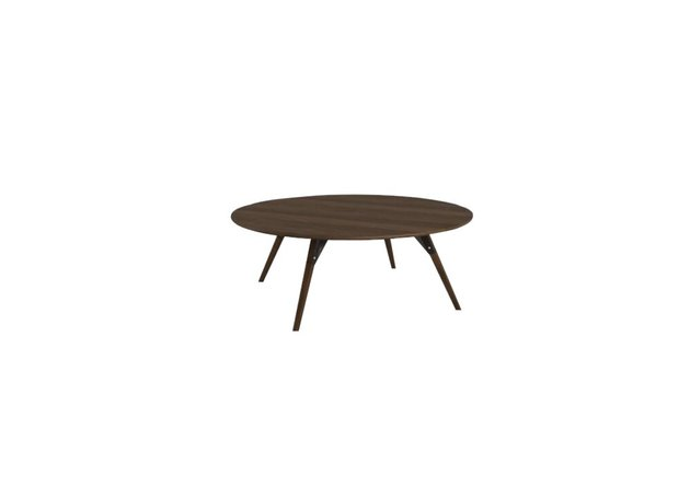 Clarke Coffee Table Small Circle Black And Walnut