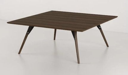 Clarke Coffee Table Small Square Black And Walnut