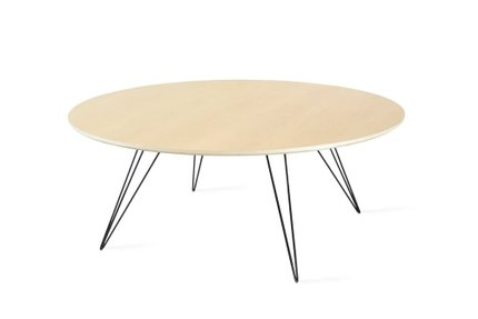Williams Coffee Table Thin Oval Maple And Black