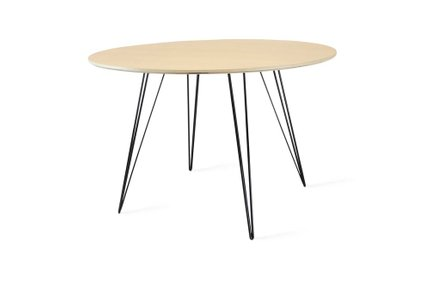 Williams Dining Table Round Large Maple And Black