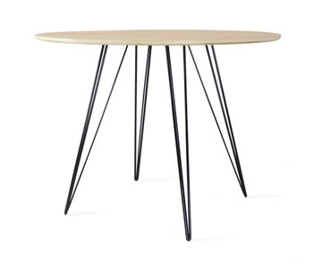 Williams Dining Table Round Small Maple And Black
