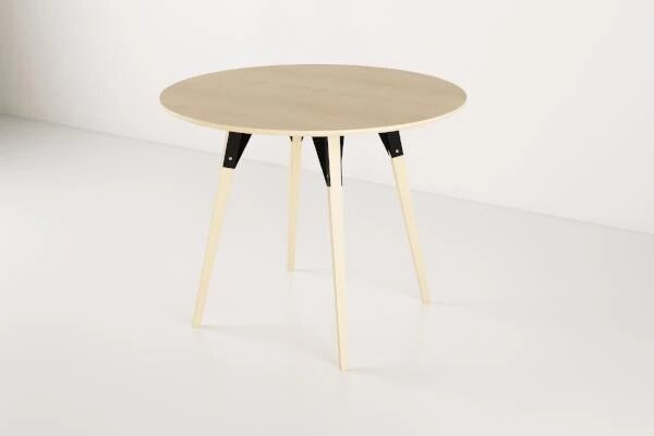 Clarke Dining Table Small Circle Maple And Black