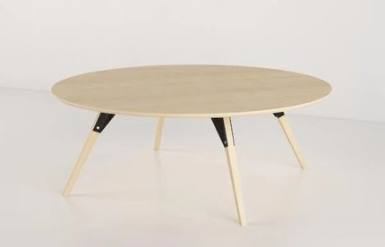 Clarke Coffee Table Small Oval Black And Maple