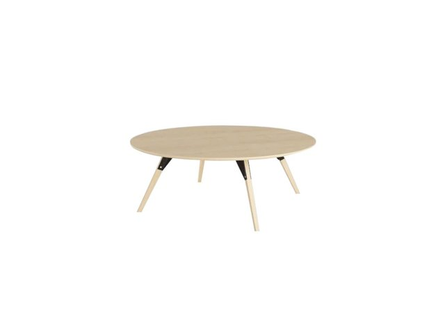Clarke Coffee Table Large Oval Black And Maple