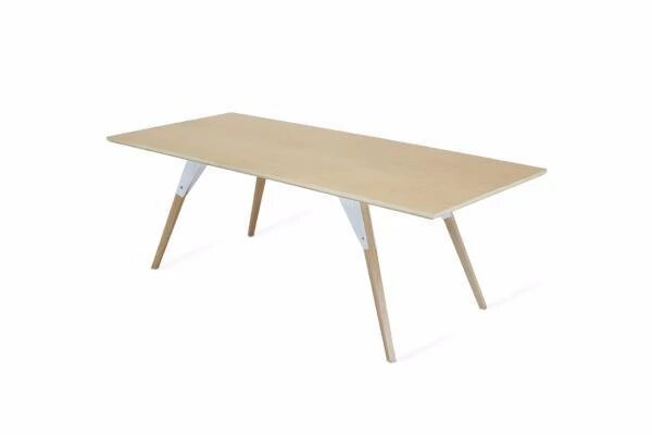 Clarke Coffee Table Small Oval White And Maple